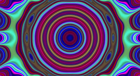 Psychedelic symmetry abstract pattern and hypnotic background texture, art design. Stock fotó