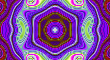 Psychedelic symmetry abstract pattern and hypnotic background texture, design ornament. Stock fotó