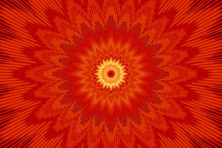 background red kaleidoscope flower pattern floral abstract. fabric.