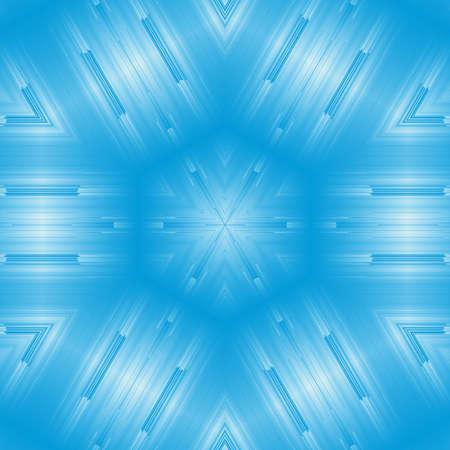 blue pattern kaleidoscope abstract background motif backdrop. geometric symmetry. Stock Photo