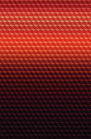 Cube red orange geometric 3D pattern abstract background for cover design, template.