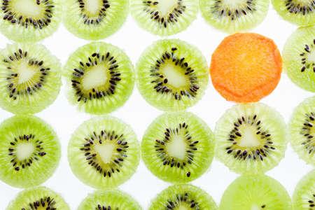 Fresh Kiwi fruit sliced use for background