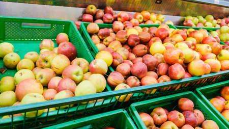 apple fruit fresh healthy food background natural, organic. Imagens