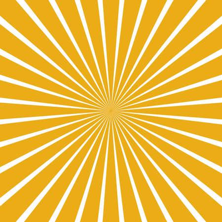 Rays vector yellow beams element. Sunburst shape. Radiating radial merging lines. Abstract circular geometric shape. Illusztráció