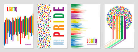 Lgbtq rainbow flag freedom family, gay, and community, pride pattern on white background, colorful cover vector illustration design.