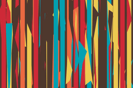 Pattern vintage vector with careless strokes as vertical lines. Abstract sharp background. Hand drawn broken texture, craps and shards.