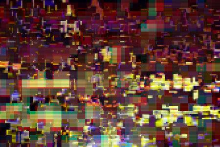 Glitch digital abstract artifacts distortion background futuristic, interference. 版權商用圖片