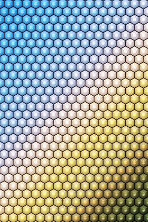 Hexagon or cube pattern cover geometric design background, template.