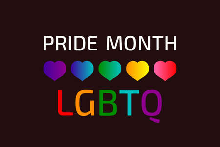Lgbtq symbol sign background bisexual pride flag. design rainbow