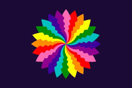 Lgbtq symbol sign background bisexual pride flag. freedom gay 向量圖像