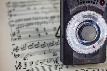 metronome: Metronome and Music Stock Photo