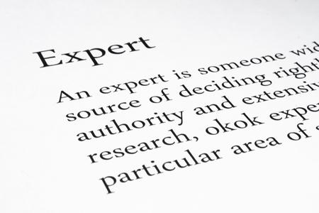 definicion: La definici�n de la palabra de Expertos Foto de archivo