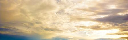 sunset sky: Sunset sky panorama