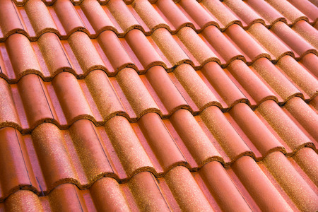 roofing: roof tiles Stock Photo