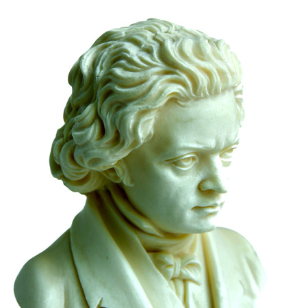 beethoven: beethoven sculpture isolated on white background