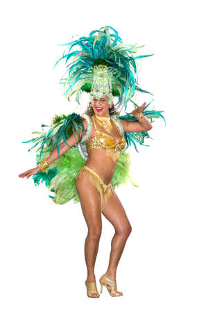 Carnival, Samba Dancer, dressed in feather costume photo