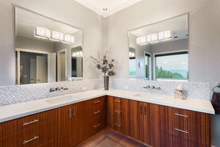 home remodel: Bathtub and shower in new luxury home