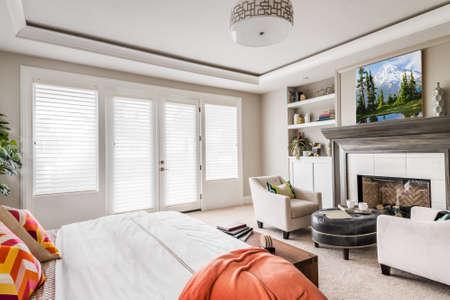新居での家具の寝室