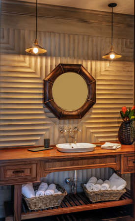 Vanity with Mirror in luxury home