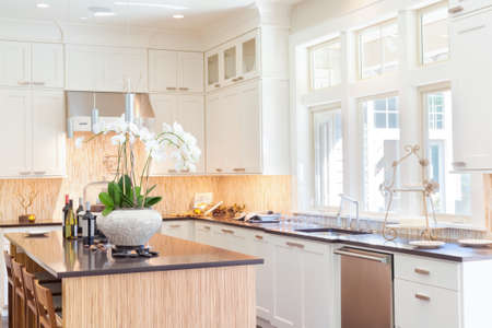 Newly constructed home with beautiful furnished kitchen