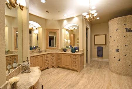 새로 지어진 럭셔리 홈 마스터 욕실
