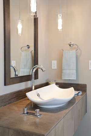 constructed: master bathroom in newly constructed luxury home