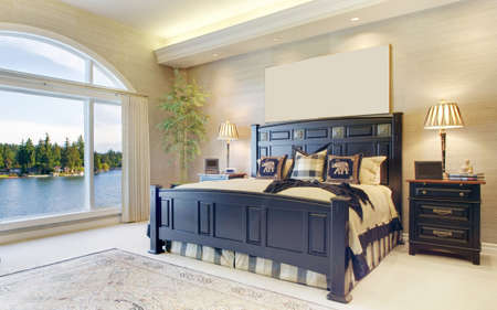 master bedroom: Beautiful Bedroom in Luxury Home