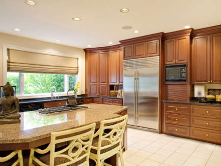 upscale: kitchen interior in new home