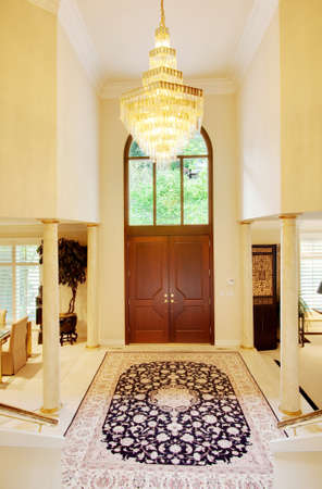 entryway: Beautiful Entryway In Luxury Home Stock Photo