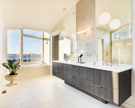 master bath: master bathroom in newly constructed luxury home