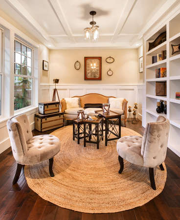 den: Den and Reading Room in Luxury Home