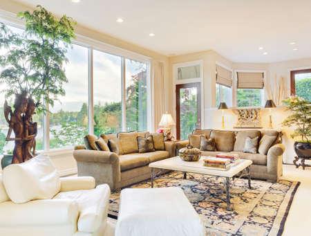 Beautiful Living Room in Luxury Home