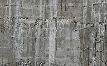 木製の木型でコンクリートの壁を木型基板シャッターとセメントのたるみから感動します。