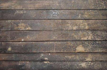 grunge wood: Old vintage rustic aged antique wooden sepia panel with horizontal gaps, planks and chinks