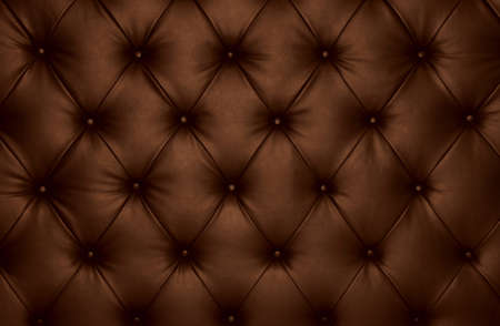 soft textile: Brown capitone checkered soft fabric textile coach leather decoration with buttons