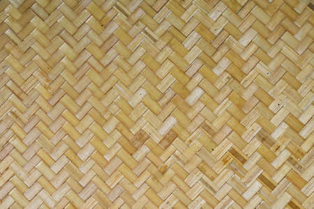 webbed: Wicker braided bamboo unpainted wall texture pattern Stock Photo