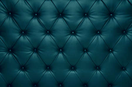 button tufted: Vivid blue capitone checkered soft fabric textile coach leather decoration with buttons Stock Photo