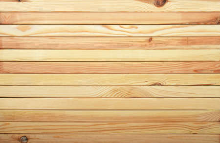 unpainted: Horizontal unpainted raw light pine wooden narrow planks panel texture background
