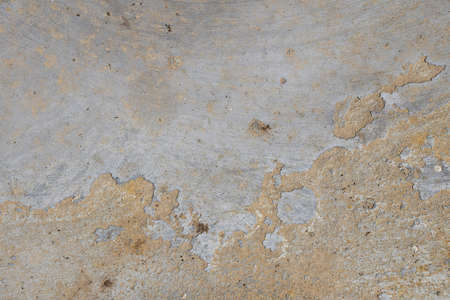 hollow wall: Damage fault defects in grunge concrete wall or floor with stains background