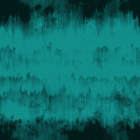 flaws: Teal blue abstract grunge surface texture background with uneven dark black paint ink runs, strokes and cracks Stock Photo