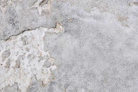 hollow wall: Damage fault crack in grunge concrete wall or floor with stains background