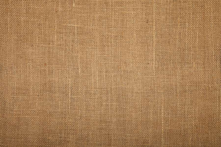 Natural brown burlap jute sackcloth bagging canvas texture pattern background Stock Photo