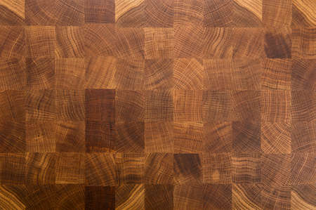 Oak wood butcher end grain chopping block board Archivio Fotografico
