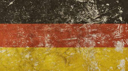 deutchland: Old grunge vintage dirty faded shabby distressed German republic national flag background