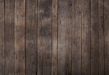 brown texture: Old vintage aged grunge dark brown wooden floor planks texture background with stains and nails