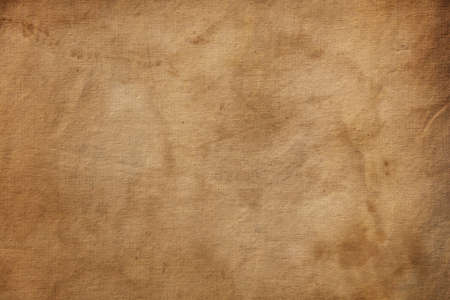 Old grunge vintage brown flax duck linen fabric textile of sailcloth canvas texture background pattern with dirty stains