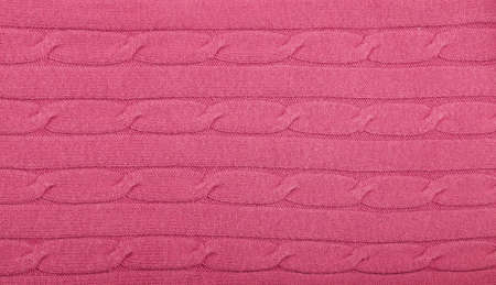 63daecff6cf Close up background of pink knitted wool jersey fabric texture Stock Photo  - 106095736