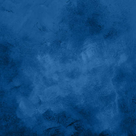 Blue abstract grunge surface texture background with uneven dark paint strokes Imagens