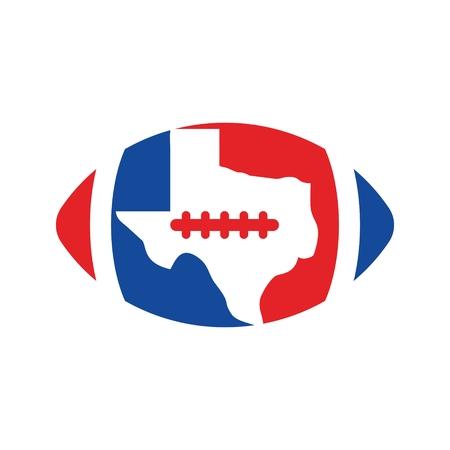 footbal: Texas footbal vector.