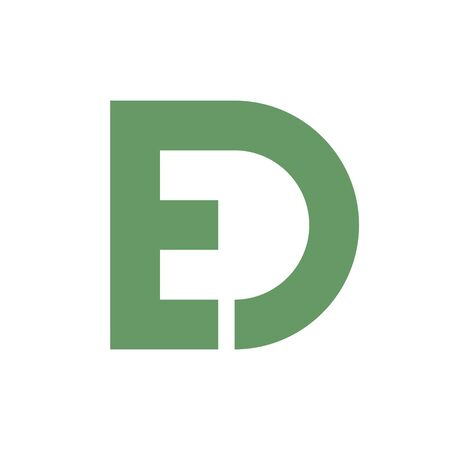 ed: letter E and D vector.